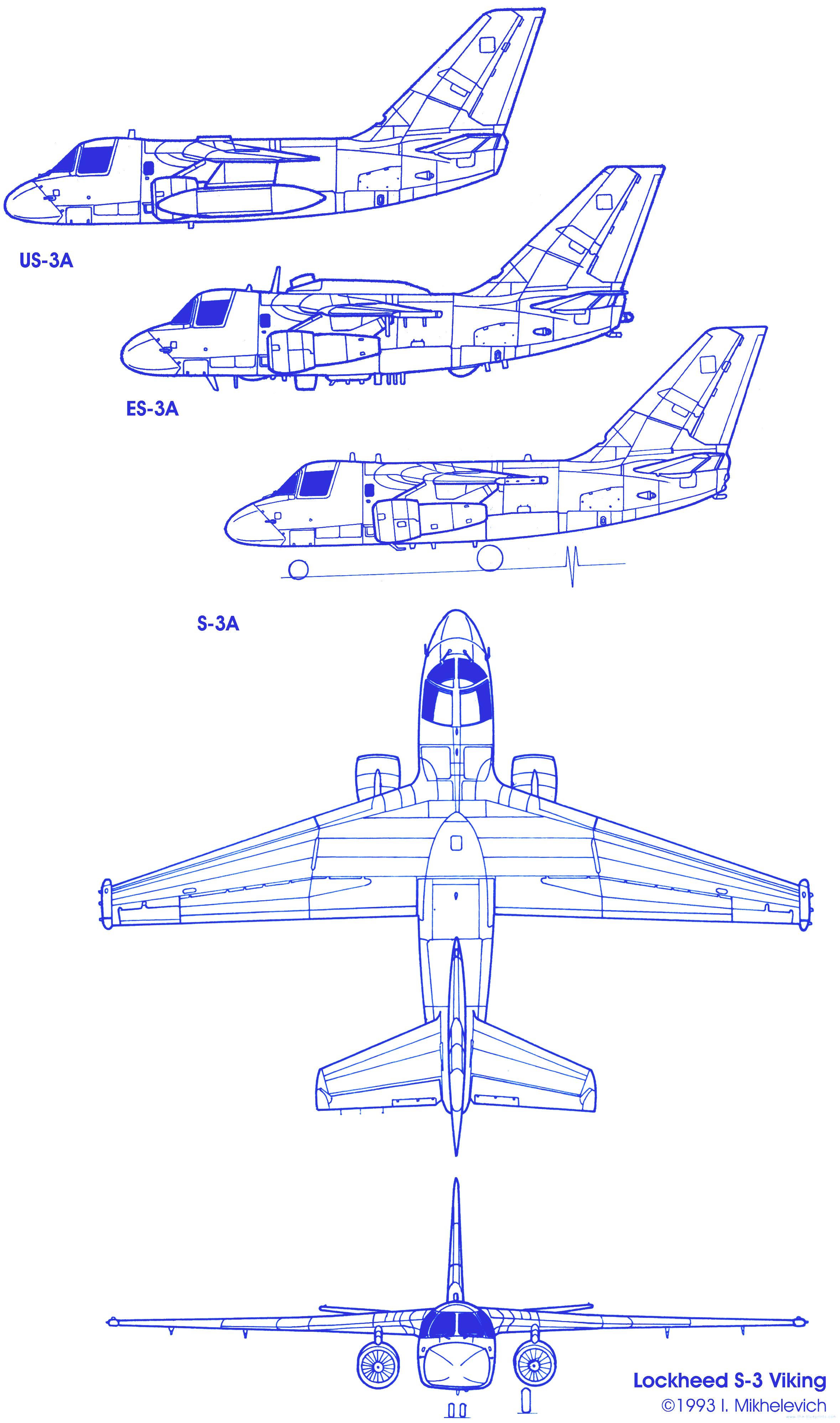 S-3 Viking Drawing - Bing images